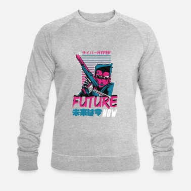Retro-futurism Future now - retro style - Men's Organic Sweatshirt