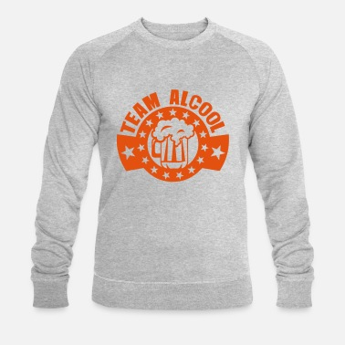 Text add text team alcohol beer logo - Men's Organic Sweatshirt