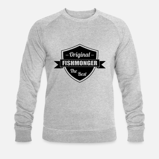Boss Hoodies & Sweatshirts - Fishmonger / Fischhändler / Fish / Poissonnier - Men's Organic Sweatshirt heather grey