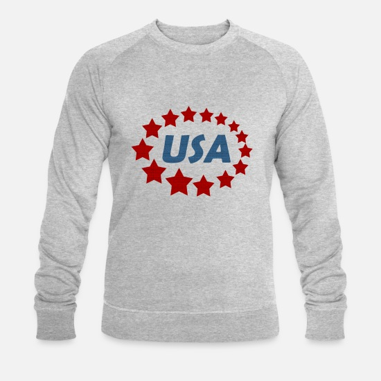 New York Sweat-shirts - États-Unis d'Amérique États-Unis États-Unis - Sweat-shirt bio Homme gris chiné