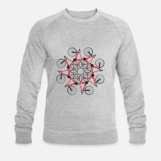 Cool Hoodies & Sweatshirts - bicycle cycle - Men's Organic Sweatshirt heather grey