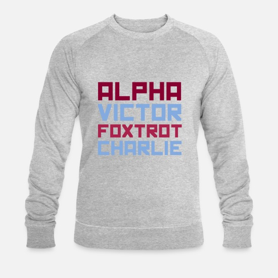 Birthday Hoodies & Sweatshirts - Alpha - Men's Organic Sweatshirt heather grey