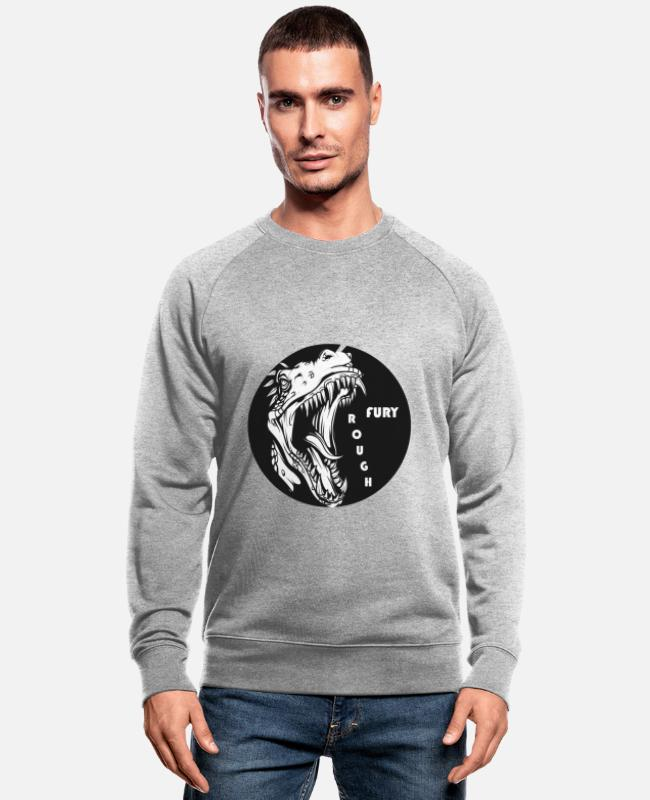 Carnivores Hoodies & Sweatshirts - Jurassic Rex - Men's Organic Sweatshirt heather grey