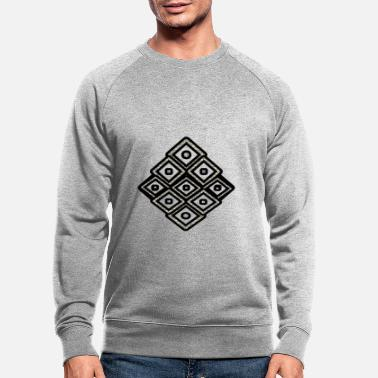 Rectangle Black square - Men's Organic Sweatshirt