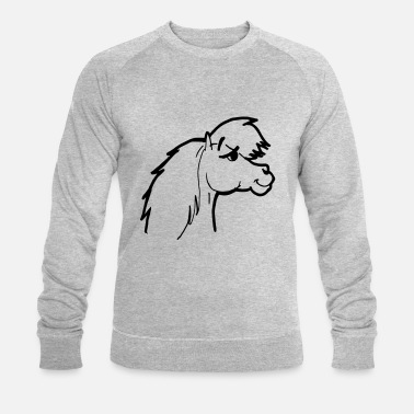 Conceited Pony head conceited and vain cocky and cheeky - Men's Organic Sweatshirt