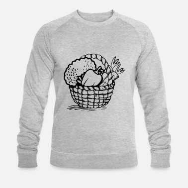 Basket vegetable basket - Men's Organic Sweatshirt