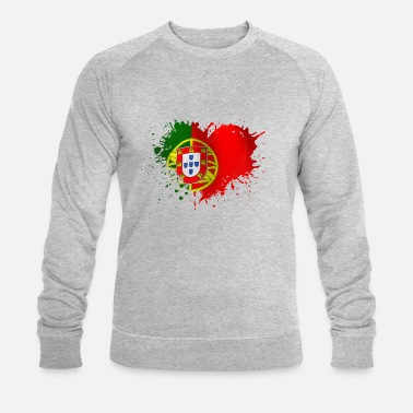 Portugal coeur portugal - Sweat-shirt bio Homme