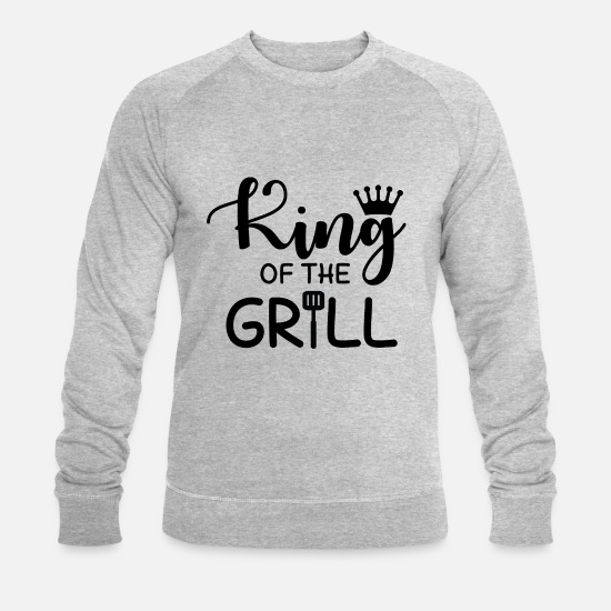 Barbecue Sweat-shirts - Roi du Grill - Sweat-shirt bio Homme gris chiné