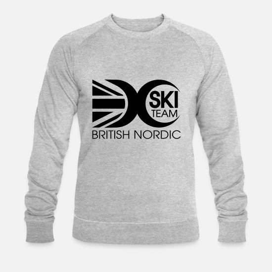 Country Hoodies & Sweatshirts - British Nordic Logo - Men's Organic Sweatshirt heather grey