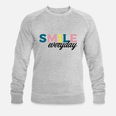 Bonheur smile everyday 1 - Sweat-shirt bio Homme