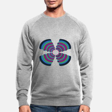 Model Black borderlines - Men's Organic Sweatshirt