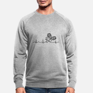 996 Ducati Heartbeat black - Men's Organic Sweatshirt