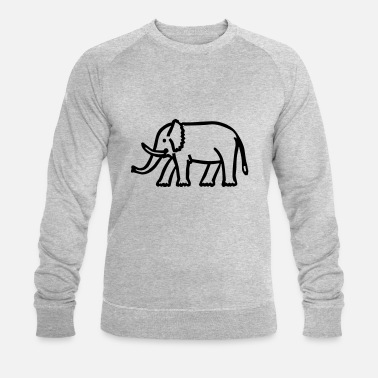 India olifant - Mannen bio sweater