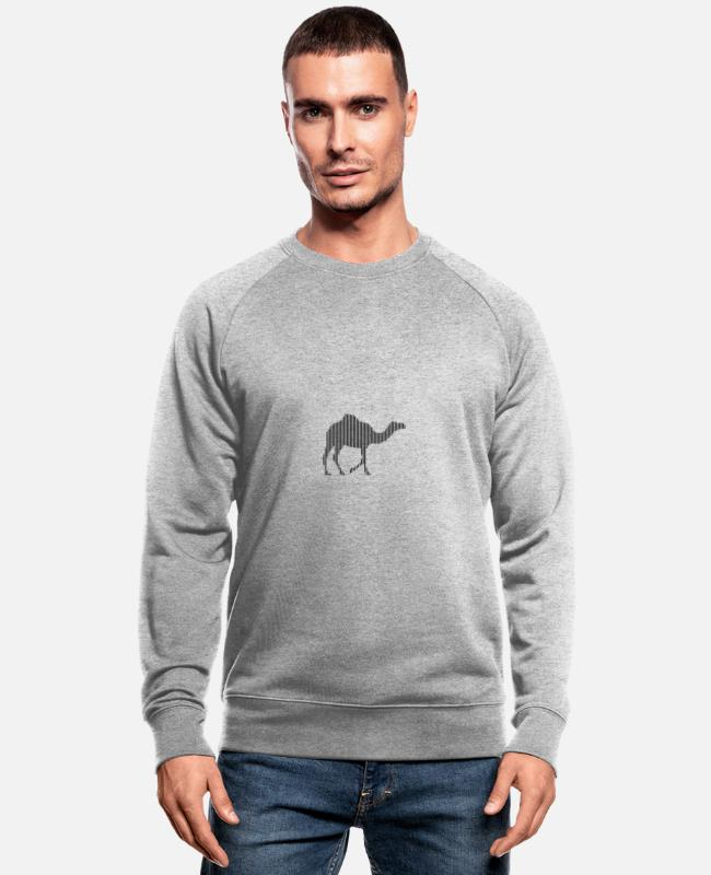 Zoo Animal Hoodies & Sweatshirts - dromedary - Men's Organic Sweatshirt heather grey