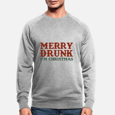 Christmas Merry Drunk - Sweat-shirt bio Homme