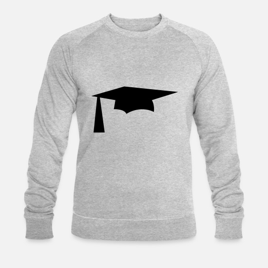 Graduation Hoodies & Sweatshirts - mortar pestle graduation university hat simple - Men's Organic Sweatshirt heather grey