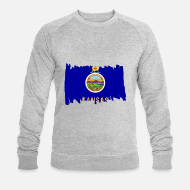 United Kansas USA - Flag - brush vertical - Men's Organic Sweatshirt