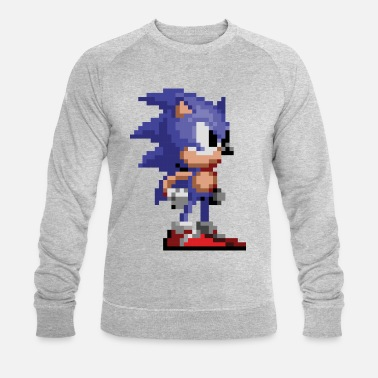 Sonic The Hedgehog 16-bit Pose - Männer Bio Pullover