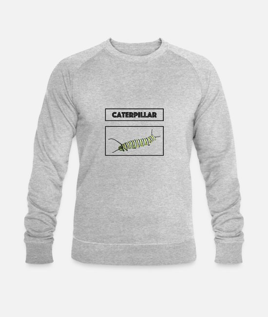 Nature Hoodies & Sweatshirts - Caterpillar becoming butterfly becomes insect gift - Men's Organic Sweatshirt heather grey