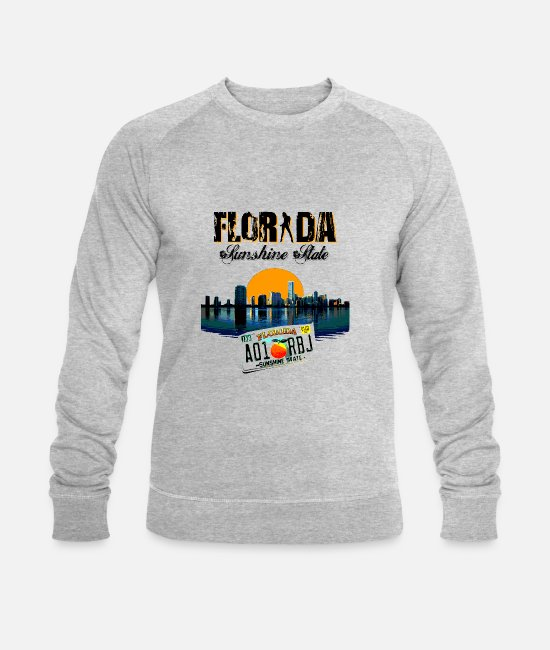 Usa Hoodies & Sweatshirts - FLORIDA - Men's Organic Sweatshirt heather grey