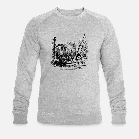 Thelwell Hoodies & Sweatshirts - PonyFail Thelwell Cartoon - Men's Organic Sweatshirt heather grey