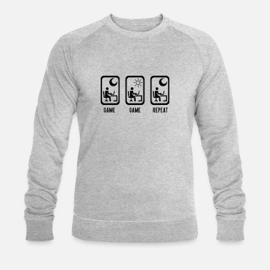Computer Game Game Game Repeat - computer games gaming gambling - Men's Organic Sweatshirt