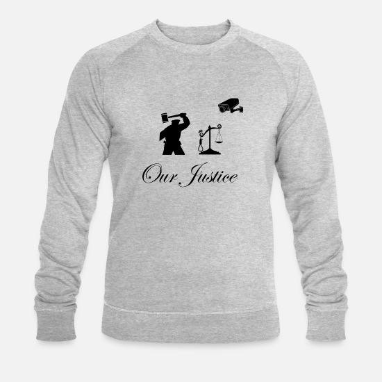 S'aimer Sweat-shirts - Our justice police - Sweat-shirt bio Homme gris chiné
