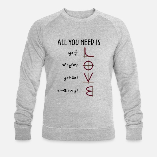 Love Sweaters & hoodies - All you need is love (vergelijkingen) Gift - Mannen bio sweater grijs gemêleerd