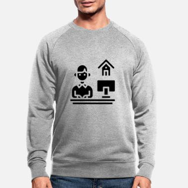 Home Office Man Home office - Men's Organic Sweatshirt