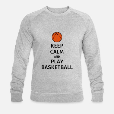 Play keep calm and play basketball - Felpa ecologica uomo