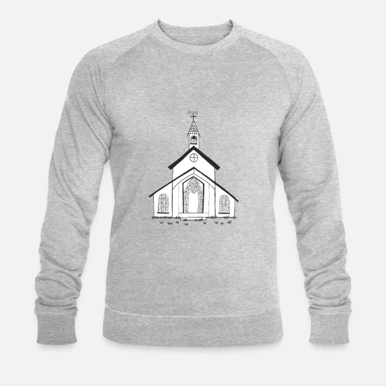 Church Hoodies & Sweatshirts - Church - Men's Organic Sweatshirt heather grey