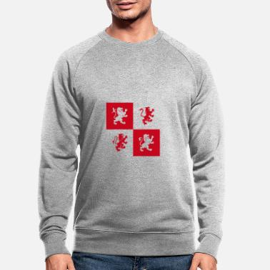 Crest Coat of arms Potter lion knight gender red lions fun - Men's Organic Sweatshirt