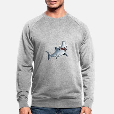Great white shark gift idea children - Men's Organic Sweatshirt