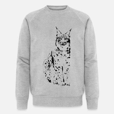 Chat Puma Lynx chat sauvage Veste à capuche Premium Homme charbon