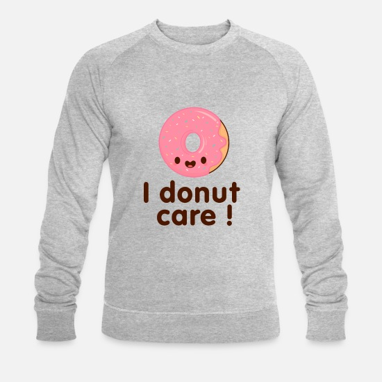 Cookie Sweat-shirts - donutcare - Sweat-shirt bio Homme gris chiné