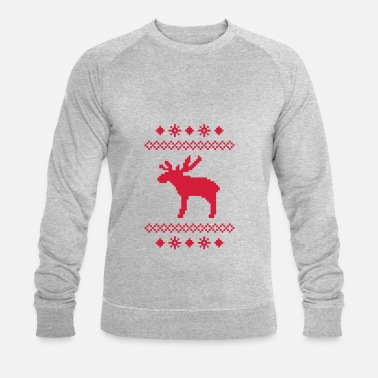 dd8067cf elg villrein villrein hjort jul nordmenn strikkeoppskrift rudolf ...