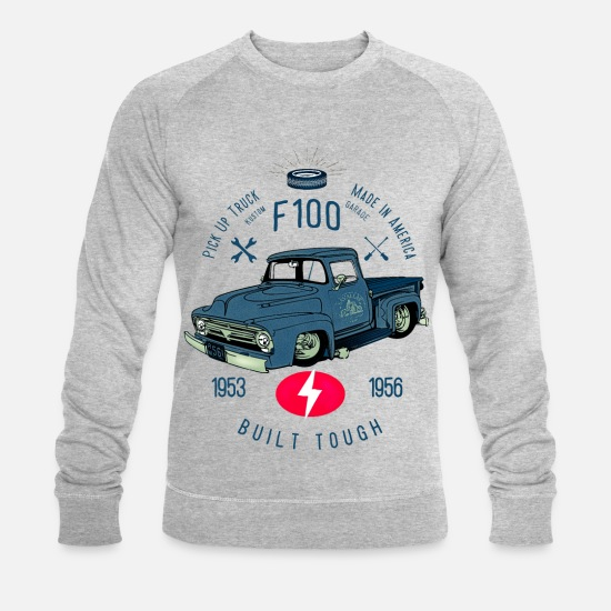 Bikes And Cars Collection V2 Hoodies & Sweatshirts - F100 Built Tough - Men's Organic Sweatshirt heather grey
