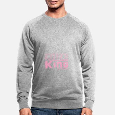 Rock n Roll King roze - Mannen bio sweater