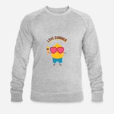 Glace au citron Love Summer Summer - Sweat-shirt bio Homme