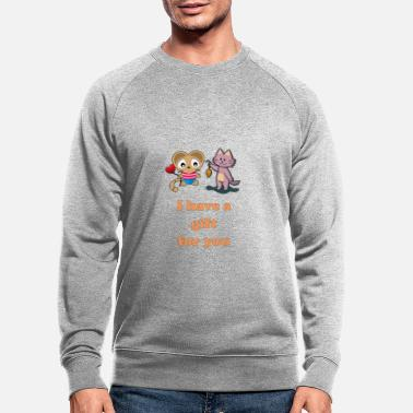 Cool love phrases for the relationship with Cat Kuku - Men's Organic Sweatshirt
