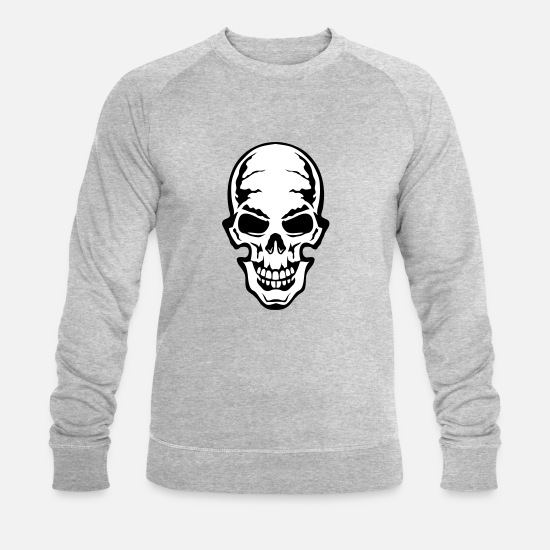 Gothic Hoodies & Sweatshirts - gothic gothic dead head 106 - Men's Organic Sweatshirt heather grey