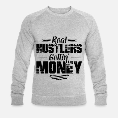 Cash Hustle hip hop rap disant de l'argent - Sweat-shirt bio Homme