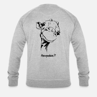 Gezeichnet Giraffe (II) - How are you doing? - Männer Bio Pullover