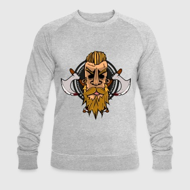 Vicking head - Men's Organic Sweatshirt by Stanley & Stella