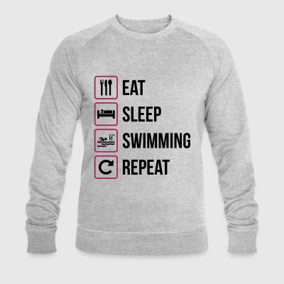 Eat Sleep Swimming Repeat - Ekologisk sweatshirt herr från Stanley & Stella