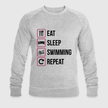 Eat Sleep Swimming Repeat - Men's Organic Sweatshirt by Stanley & Stella