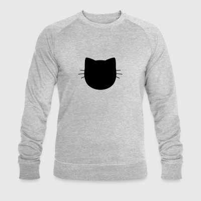 Cat silhouette - Men's Organic Sweatshirt by Stanley & Stella