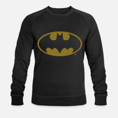 Officialbrands Batman Logo in gold-metallic Look - Mannen bio sweater