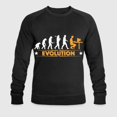 Computer Nerd Evolution - orange/weiss - Mannen bio sweatshirt van Stanley & Stella