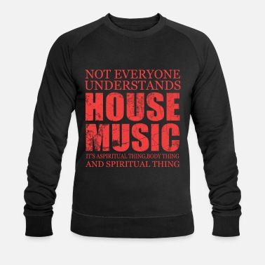 House Music Song Sound Gift Pop Rock Techno House Note - Men's Organic Sweatshirt by Stanley & Stella